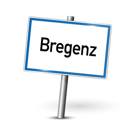ortseingangsschild: Ortsschild - Bregenz - Österreich