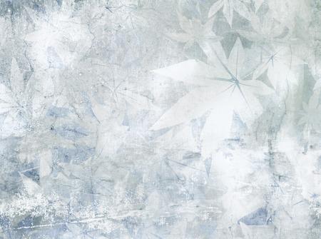 dreamy: Soft blue grey floral pattern - vintage flower background Stock Photo