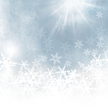 Snowflakes background - light blue abstract winter background photo