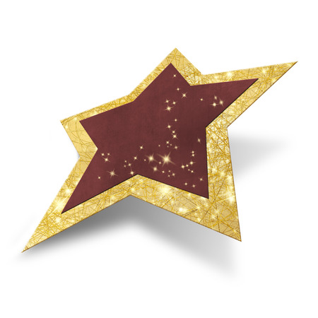 Sparkling Christmas star isolated including clipping path photo