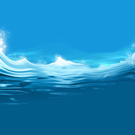 Ocean waves - blue water background