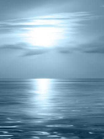 calm background: Horizon ocean - abstract calm background