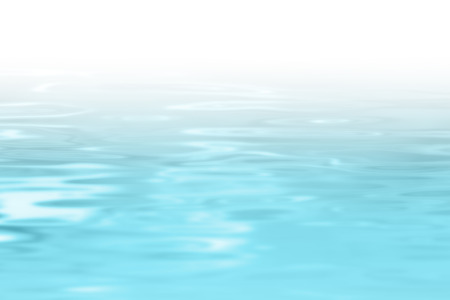 Blue water background with gradient to white