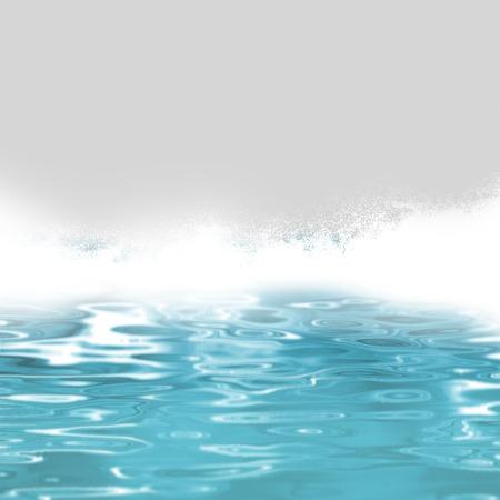 breaking wave: Water background - ocean waves