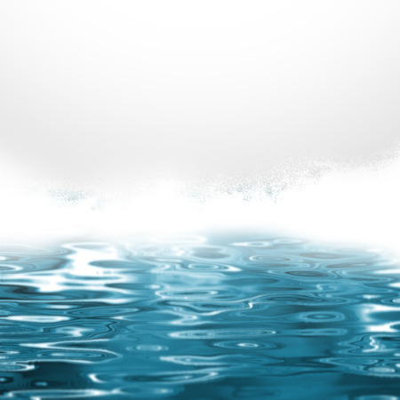 breaking wave: Sea spray - abstract blue water background
