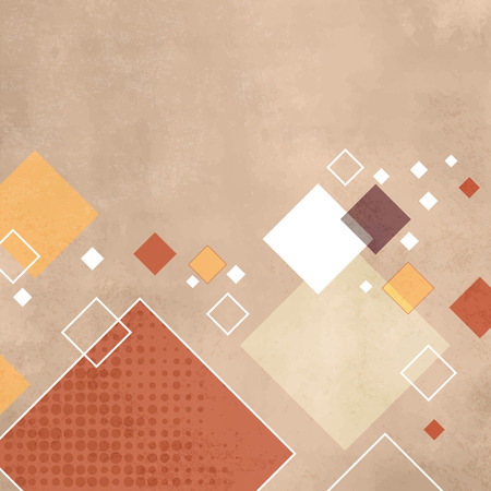 40s: Retro squares - geometric pattern - abstract vintage rhombus background
