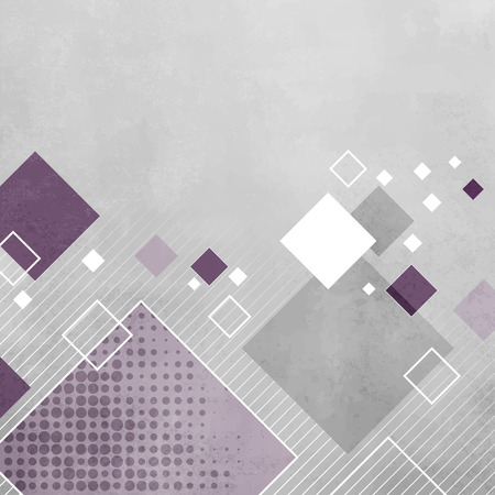 diagonal: Abstract gray geometric background with purple squares