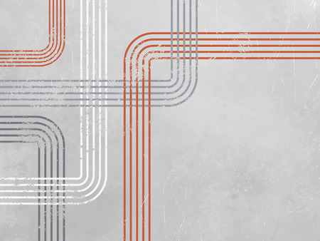 minimalist: Grey abstract background with red lines - retro design