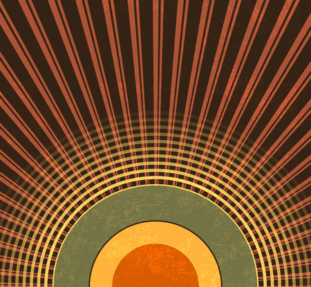 Retro background - abstract grunge radio waves - vintage music pattern Vector