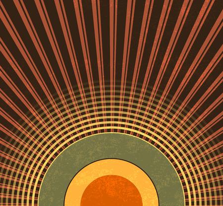 Retro background - abstract grunge radio waves - vintage music pattern Illustration