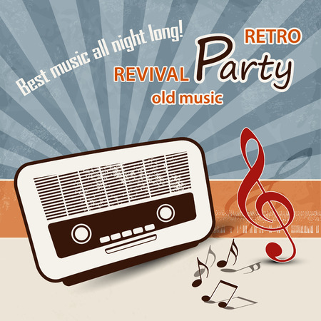 50s: 50s music background  retro party poster