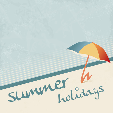 50's: Retro summer holiday background 50s
