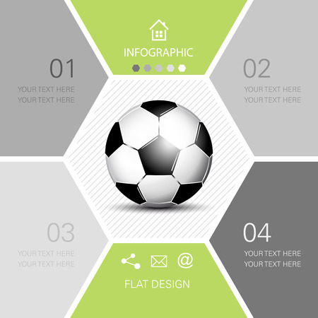 Soccer ball infographic  football Vector