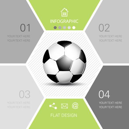 Soccer ball infographic  football Illustration