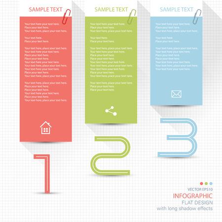 Elementi infographic note memo Archivio Fotografico - 40889526