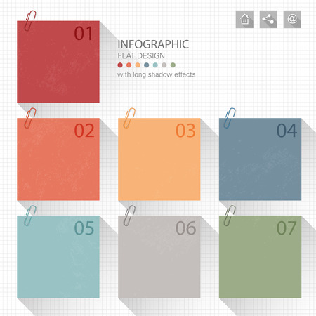 memo pad: Infographic memo notes