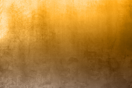 Brown yellow background gradient in grunge style with light effect Stock Photo