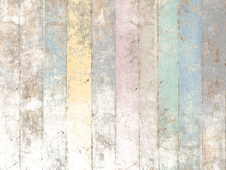Painted wood background with pastel colors in soft vintage style Banco de Imagens