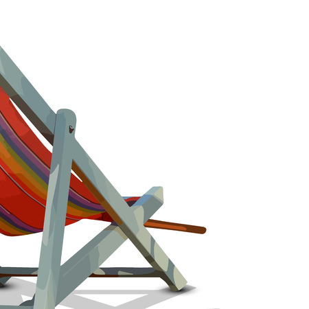 vector chair: Deck chair isolated - summer holiday concept
