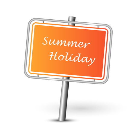 holiday symbol: Summer holiday icon isolated - travel symbol - tourism sign