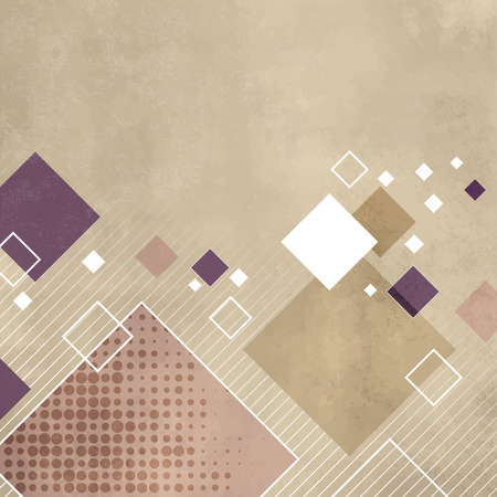 Square background in light beige color with soft retro texture Illustration