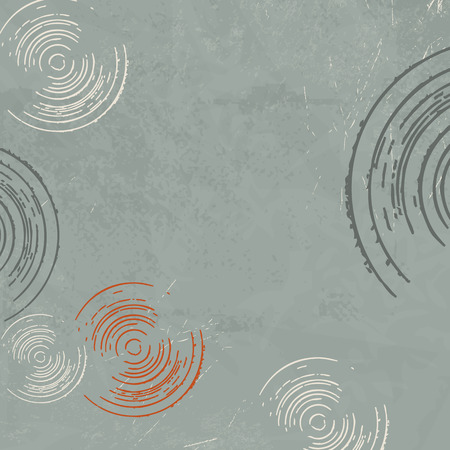 circle abstract: Retro background 50s 70s style - abstract circle pattern grey green Illustration