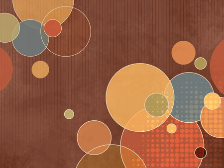 colorful abstract background: Abstract brown retro background pattern with colorful circles and dots