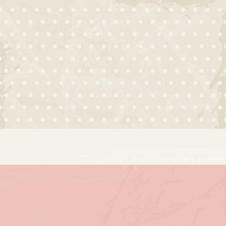 beige background: Vintage background pink beige with polka dots