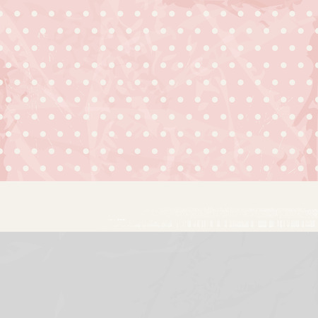 fifties: Soft pastel background with polka dots in vintage style