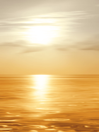 Sunrise background over the sea in soft blurred style