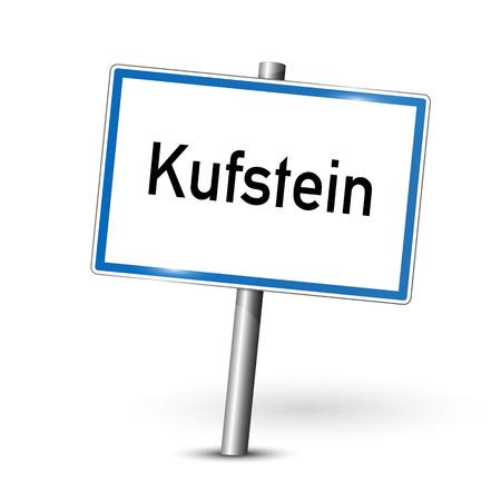 ortseingangsschild: Stadt sign - Kufstein - �sterreich