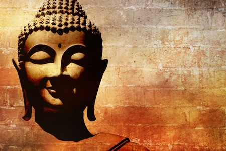 close up image: Buddha face background