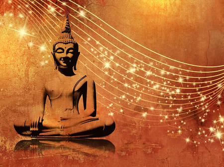 budha: Buddha background grunge with stars