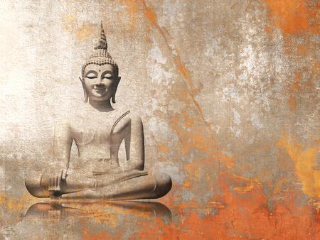 Buddha - meditatie achtergrond Stockfoto