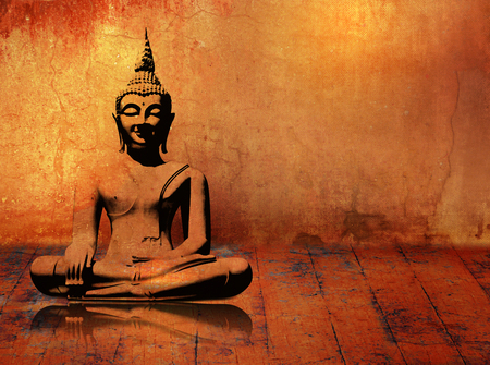 budda: Buddha background in grunge style