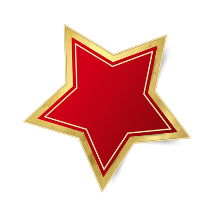 christmas star: Single red star - Christmas decoration isolated Illustration