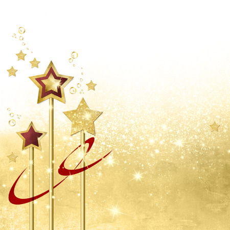 gold stars: Gold star background with gradient to white Stock Photo