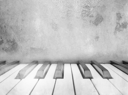 music background: Piano keys - vintage music background