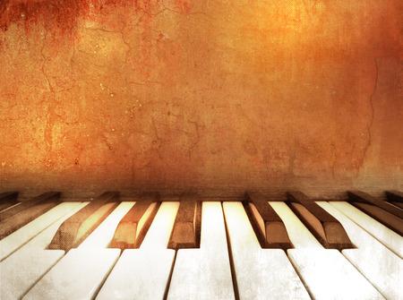 Music background grunge - piano keys