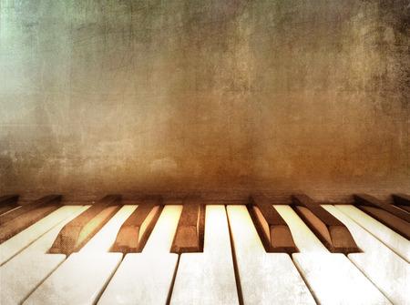 ivories: Grunge piano - retro music background Stock Photo