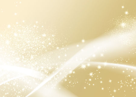 Gold sparkle background - abstract soft texture with wavy lines Stock Photo
