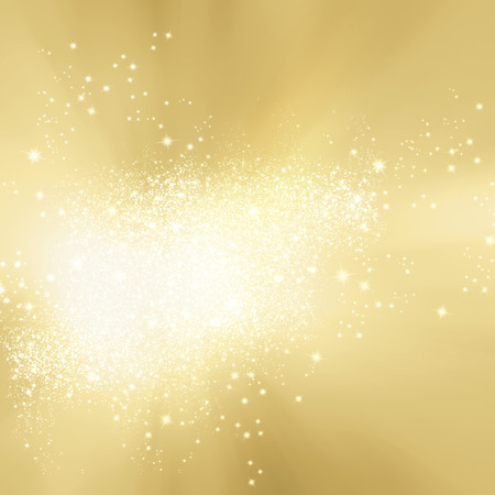 Abstract soft background gold with sparkle lights - festive starburst texture 免版税图像