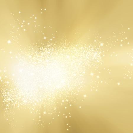 Abstract soft background gold with sparkle lights - festive starburst texture Standard-Bild