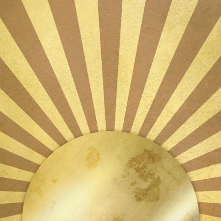 morenas: Fondo de la vendimia con los rayos y la placa de oro Foto de archivo