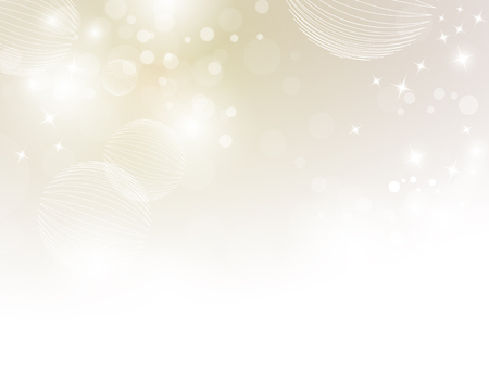 fading: Soft beige sparkle background with bokeh lights fading to white Illustration