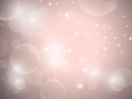 Soft pink background in vintage pastel colors - bokeh lights