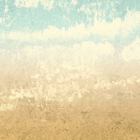 Retro background in earth colors with abstract clouds Standard-Bild