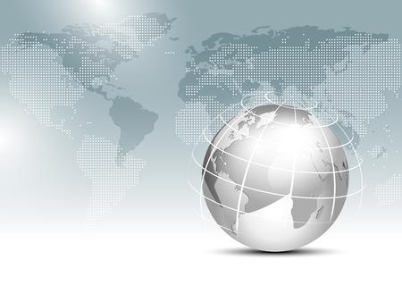Mapa świata tła z globu - globalnego szablonu finansów biznesowych