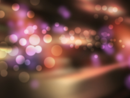 nightclub bar: Night bar - abstract blurred city background with bokeh lights