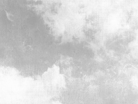 Gray sky background with white clouds and soft vintage texture Banco de Imagens